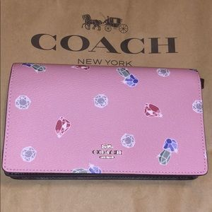 100% Authentic Coach Disney Gem Pink Crossbody